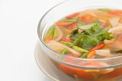 Sopa tailandesa de tom do cogumelo do alimento do vegetariano yum fotografia de stock royalty free
