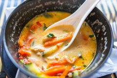 Sopa tailandesa de Tom Yum fotos de archivo libres de regalías