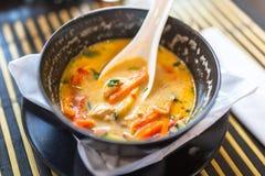 Sopa tailandesa de Tom Yum imagenes de archivo