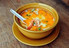 Sopa tailandesa de Tom Yum Fotografia de Stock Royalty Free