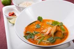 Sopa tailandesa del camarón de tom yum fotografía de archivo libre de regalías
