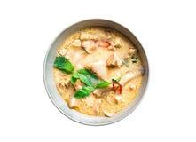 Sopa tailandesa del coco del pollo Imagenes de archivo