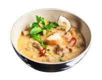 Sopa tailandesa del coco del pollo Fotos de archivo