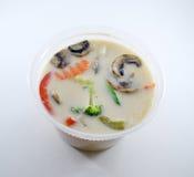 Sopa tailandesa del gai del kha de tom Fotografía de archivo