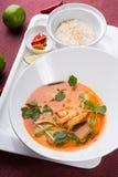 Sopa tailandesa do camarão de tom yum imagem de stock