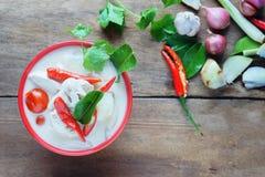 Sopa tailandesa do leite de coco do estilo Imagens de Stock Royalty Free