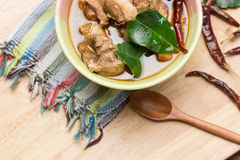 Sopa tailandesa do pé da carne de porco Fotografia de Stock Royalty Free