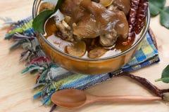 Sopa tailandesa do pé da carne de porco Imagem de Stock