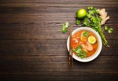 Sopa tailandesa Tom Yum fotografia de stock royalty free