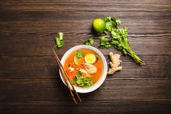 Sopa tailandesa Tom Yum foto de stock royalty free