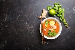 Sopa tailandesa Tom Yum foto de stock royalty free
