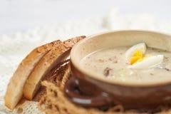 Sopa tradicional caseiro Fotografia de Stock Royalty Free