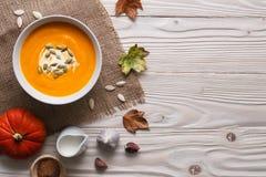 Sopa tradicional da abóbora foto de stock royalty free