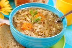 Sopa tradicional de la tripa (flaki) Fotos de archivo libres de regalías