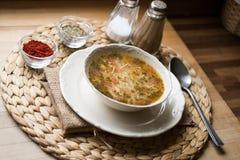 Sopa turca tradicional do caldo de galinha Foto de Stock