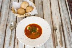 Sopa ucraniana o rusa del borscht fotografía de archivo