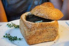 """Sopa urek de Å do"""" - alimento polonês imagem de stock"""