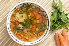 Sopa vegetal Imágenes de archivo libres de regalías