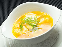 Sopa vegetal, amarela Imagens de Stock Royalty Free