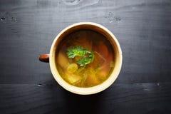 sopa vegetal Casa-feita Alimento saudável do alimento do vegetariano Fotos de Stock