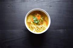 sopa vegetal Casa-feita Alimento saudável do alimento do vegetariano Imagem de Stock