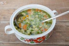 Sopa vegetal caseiro foto de stock royalty free