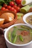 Sopa vegetal com meatballs Imagens de Stock