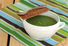Sopa vegetal cremosa deliciosa fotografia de stock royalty free