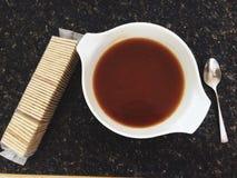 Sopa vegetal de la carne de vaca foto de archivo libre de regalías