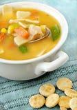 Sopa vegetal del pollo imágenes de archivo libres de regalías