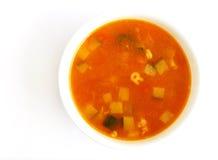 Sopa vegetal del tomate Foto de archivo libre de regalías