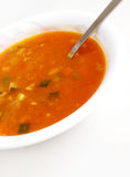 Sopa vegetal del tomate Fotos de archivo libres de regalías