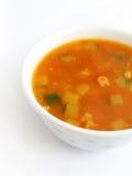Sopa vegetal do tomate Fotos de Stock