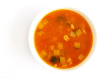 Sopa vegetal do tomate Foto de Stock Royalty Free