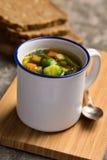 Sopa vegetal do vegetariano Fotografia de Stock