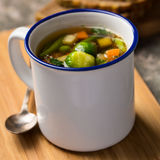 Sopa vegetal do vegetariano Foto de Stock