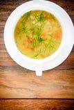sopa vegetal en una placa blanca Fotos de archivo libres de regalías
