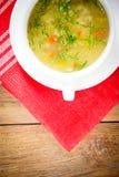 sopa vegetal en una placa blanca fotografía de archivo libre de regalías