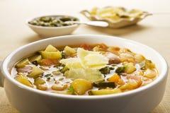 Sopa vegetal francesa Foto de archivo libre de regalías