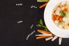 Sopa vegetal sana Foto de archivo
