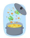 Sopa vegetal saudável ilustração stock