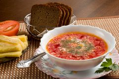 Sopa vegetariana Foto de archivo libre de regalías