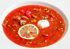 Sopa vermelha com feijões Imagens de Stock Royalty Free