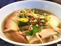 Sopa vietnamita de Pho del vientre de cerdo Foto de archivo libre de regalías