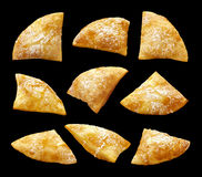 Sopapillas. Isolated on a black background Royalty Free Stock Photography