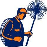 sopare för lampglasrengöringsmedelsvep vektor illustrationer