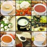 Sopas vegetarianas Foto de archivo