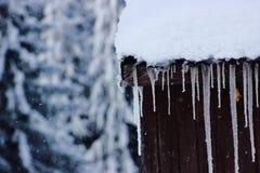 Sopel i zimny krajobraz zdjęcia royalty free