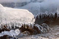 Sopel lodowej wody wzór Fotografia Stock
