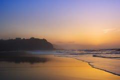 Sopelana beach at sunset. Sopelana beach and coastline at sunset Royalty Free Stock Image